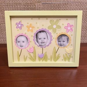 NIB Picture Lime Green Floral Kids Frame